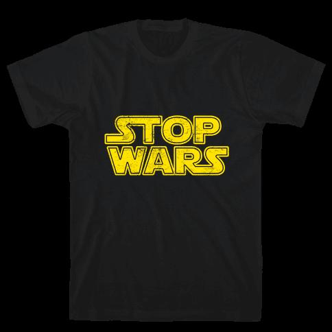 Stop Wars (Dark Print) Mens T-Shirt