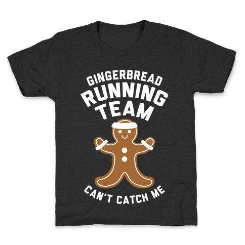 Gingerbread Running Team (White Ink) Kids T-Shirt
