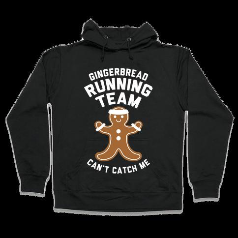 Gingerbread Running Team (White Ink) Hooded Sweatshirt