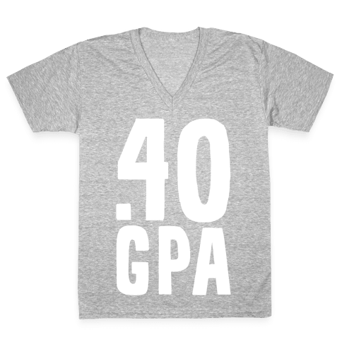 .40 GPA V-Neck Tee Shirt