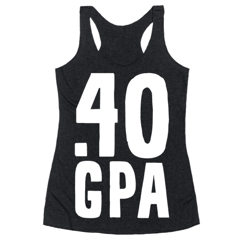 .40 GPA Racerback Tank Top