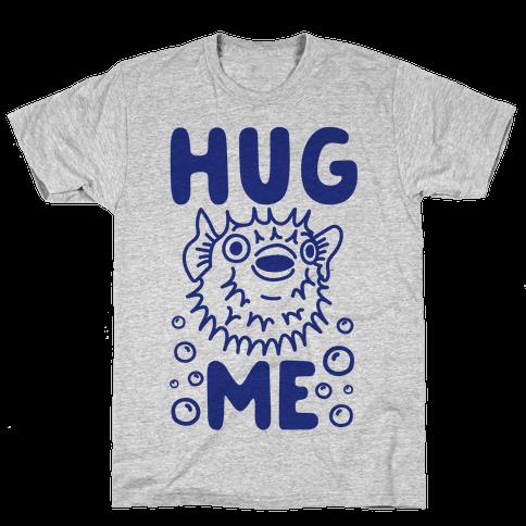 Hug Me Puffer Fish Mens T-Shirt