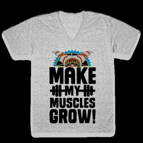 Make My Muscles Grow! V-Neck Tee Shirt