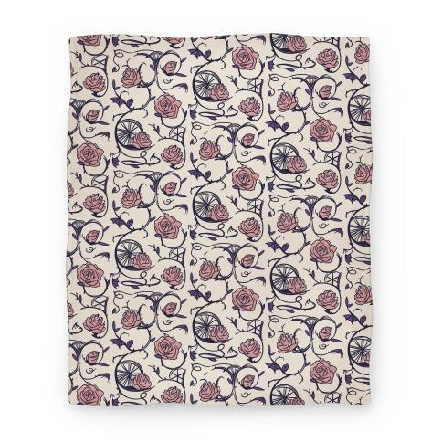 Sleeping Beauty Briar Rose Floral Pattern Blanket