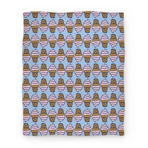 Strawberry Ice Cream Cone Pattern Blanket
