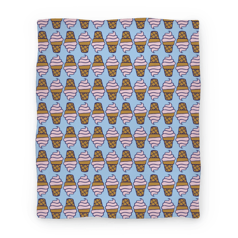 Strawberry Ice Cream Cone Pattern Blanket