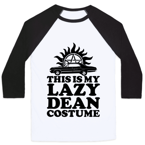 Lazy Dean Costume Baseball Tee