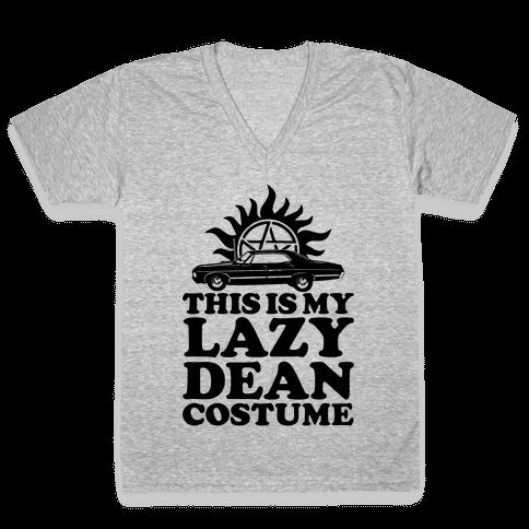Lazy Dean Costume V-Neck Tee Shirt