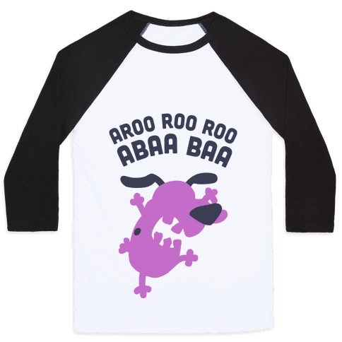 The Cowardly Dog Baseball Tee