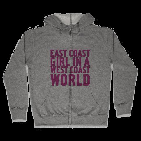 West Coast World Zip Hoodie