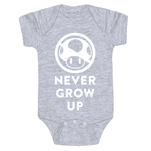 Never Grow Up Baby Onesy