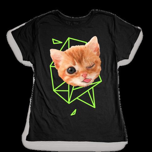 Miley Cat Head Womens T-Shirt