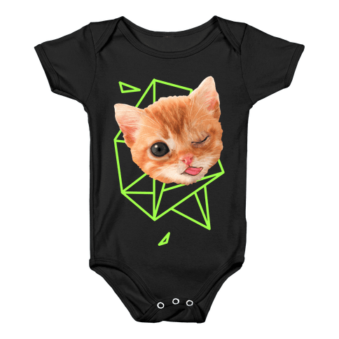 Miley Cat Head Baby Onesy
