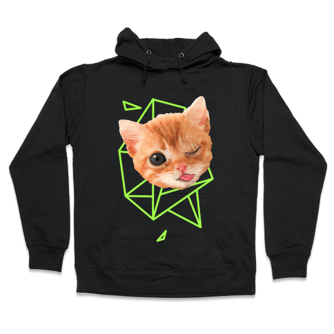 Miley Cat Head Hooded Sweatshirt