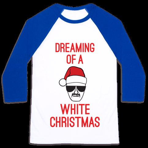 Walter White Christmas Baseball Tee