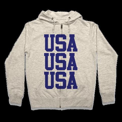 USA Zip Hoodie