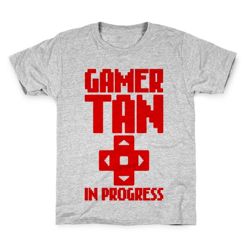 Gamer Tan In Progress Kids T-Shirt