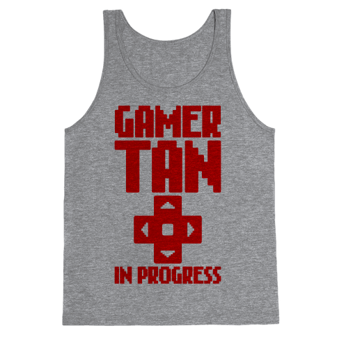 Gamer Tan In Progress Tank Top