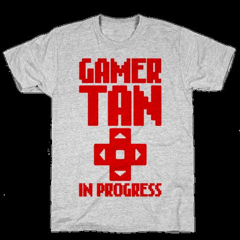 Gamer Tan In Progress Mens T-Shirt