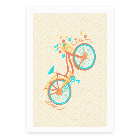 Love Your Ride: Colorful Bicycle Poster