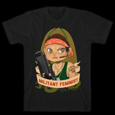 Militant Feminist Mens T-Shirt