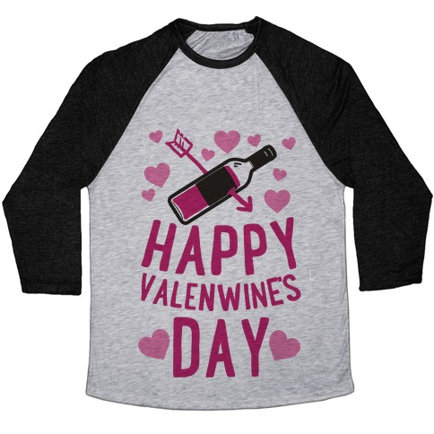 Happy Valenwine's Day Baseball Tee