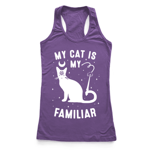 My Cat is My Familiar Racerback Tank Top