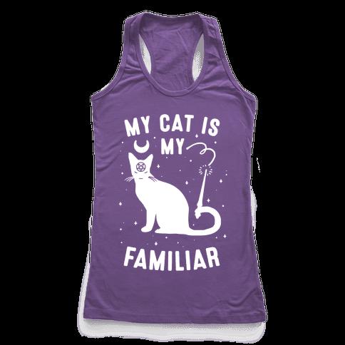 My Cat is My Familiar Racerback Tank Top