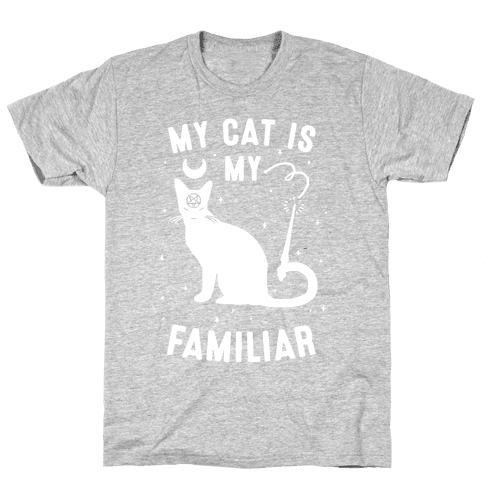 My Cat is My Familiar Mens T-Shirt