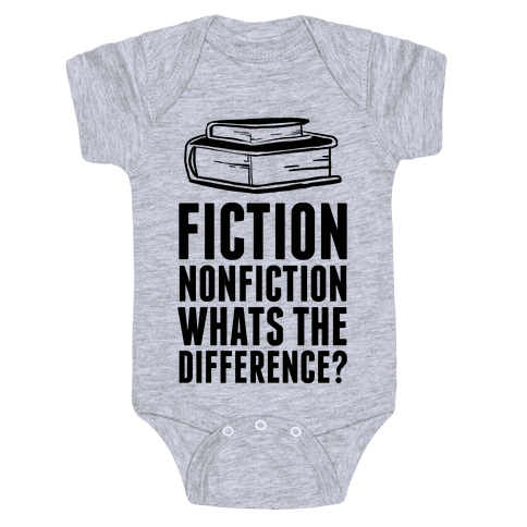 Fiction NonFiction Whats The Difference? Baby Onesy