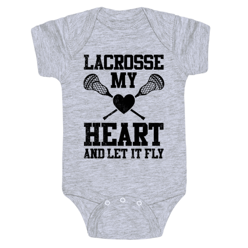 Lacrosse My Heart (Vintage) Baby Onesy