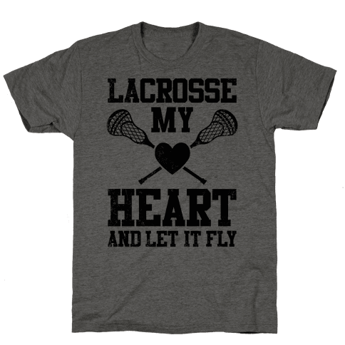 Lacrosse My Heart (Vintage) Mens T-Shirt