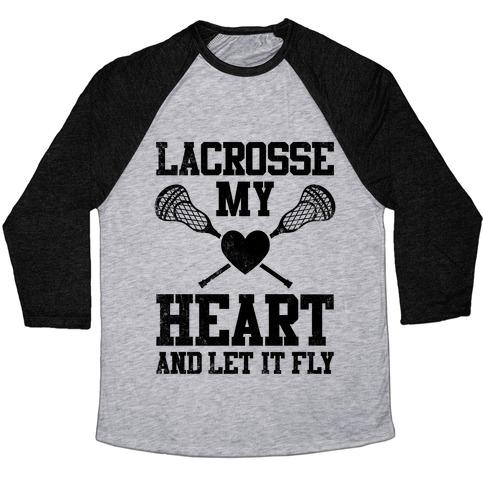 Lacrosse My Heart (Vintage) Baseball Tee