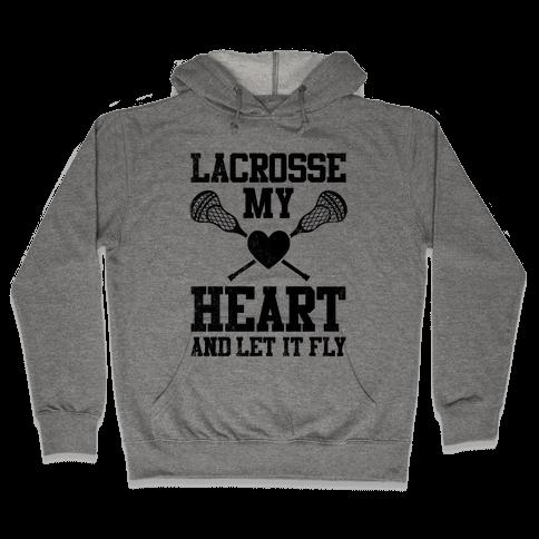 Lacrosse My Heart (Vintage) Hooded Sweatshirt