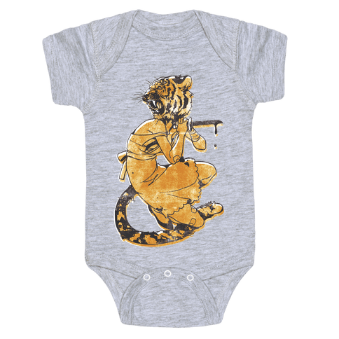 Tiger Woman Baby Onesy