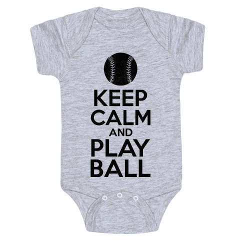 Keep Calm Ball Baby Onesy