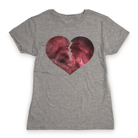 Broken Heart -Galaxy (Slim fit) Womens T-Shirt