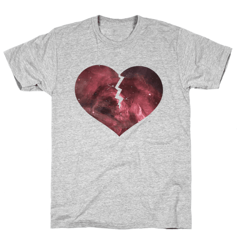 Broken Heart -Galaxy (Slim fit) Mens T-Shirt