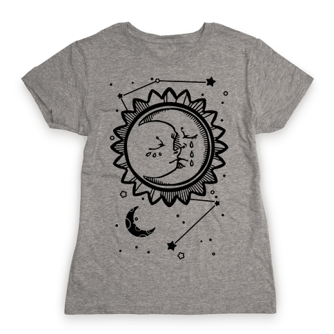 Sun and Moon Faces Womens T-Shirt
