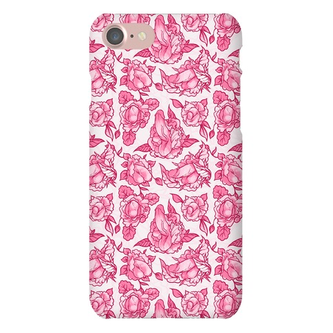 Floral Penis Pattern Pink Phone Case