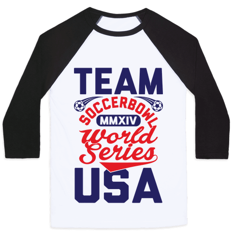 Soccerbowl World Series Baseball Tee