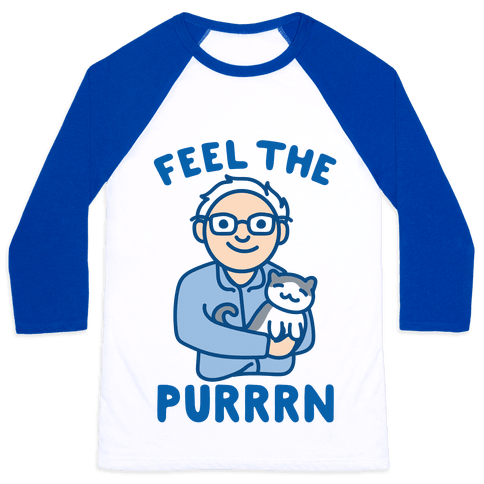 Feel The Purrrn Parody Baseball Tee