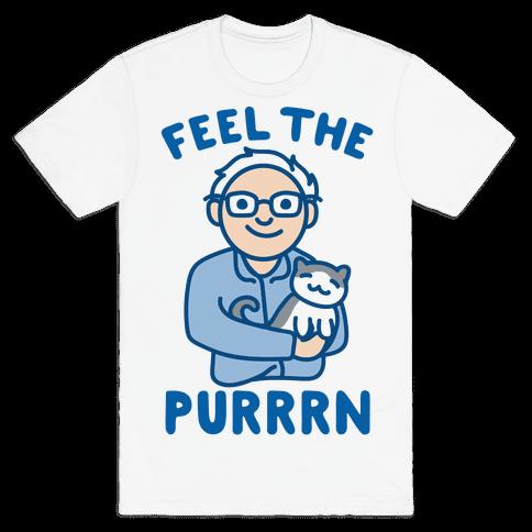 Feel The Purrrn Parody Mens T-Shirt