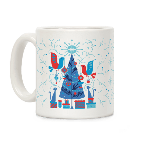 Vintage Christmas Tree Decorating Coffee Mug