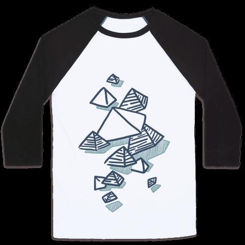 Geometric Pyramids Baseball Tee