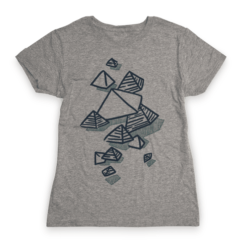 Geometric Pyramids Womens T-Shirt