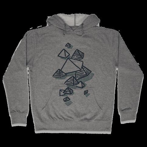 Geometric Pyramids Hooded Sweatshirt