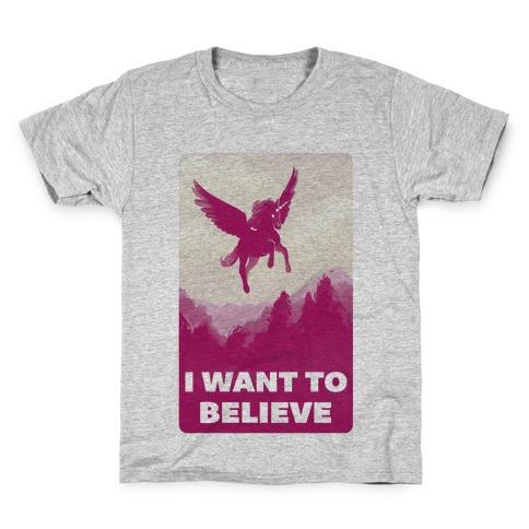 Winged Unicorn I Want To Believe Parody T Shirt Lookhuman