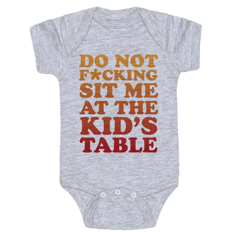 THE KIDS TABLE Baby Onesy