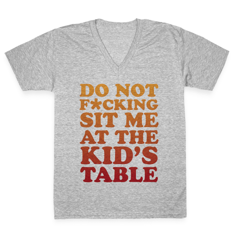 THE KIDS TABLE V-Neck Tee Shirt
